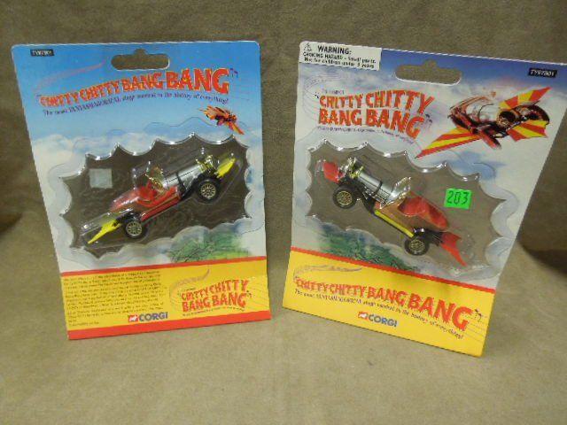 2- Corgi Chitty-Chitty Bang-Bang Cars