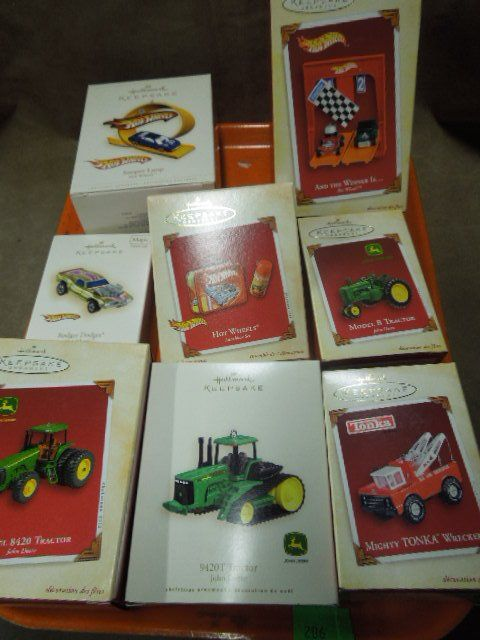 Hallmark Hot Wheels & Other Christmas Ornaments