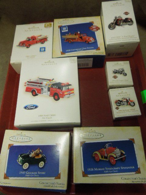 Hallmark Fire Truck & Other Christmas Ornaments