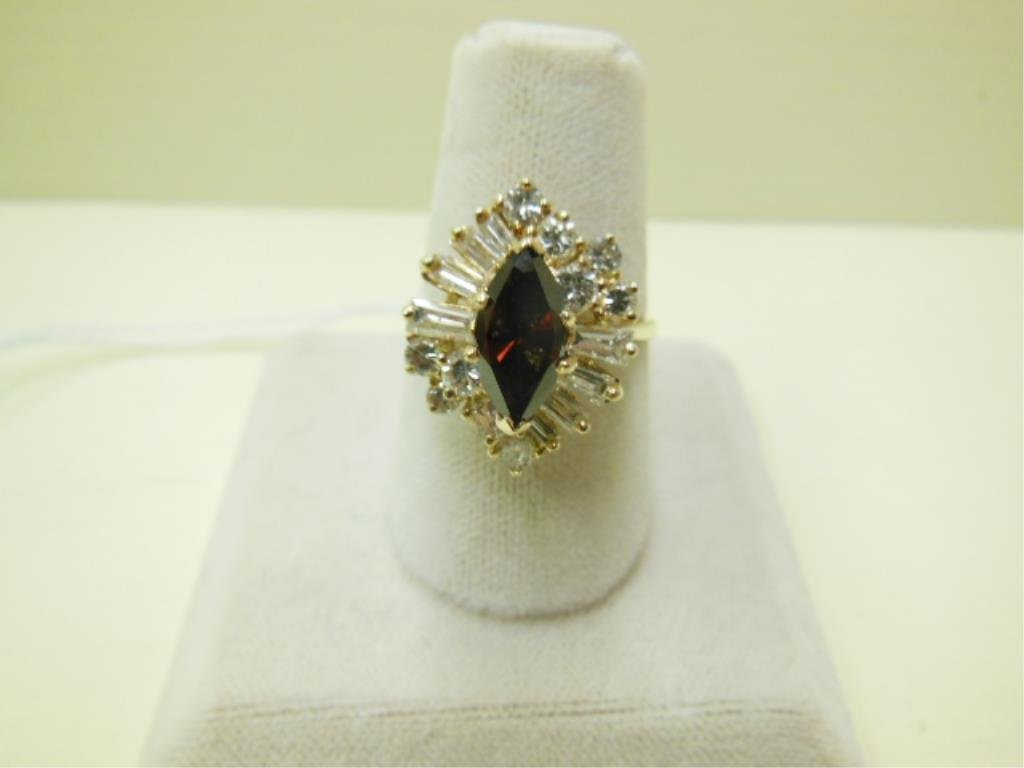 14k YG & Irradiated Diamond Ring