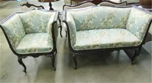 Louis XV Stylized 2 PC Parlor Suite
