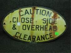 Enamel RR Caution Sign