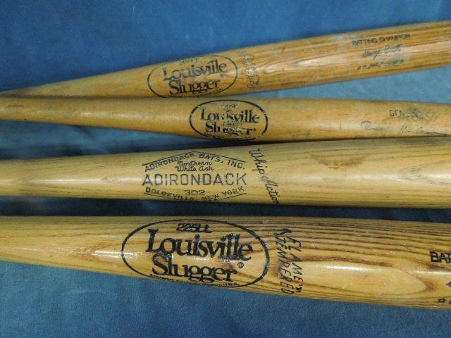 4 Baseball Bats Autograph model