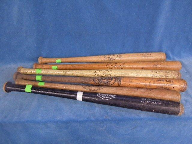 6 Baseball Bats Autograph model