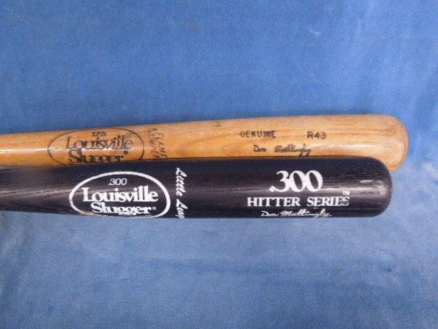2 Baseball Bats Autograph model