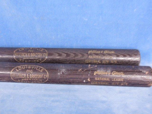 2 Gino's & Phillies Baseball bats