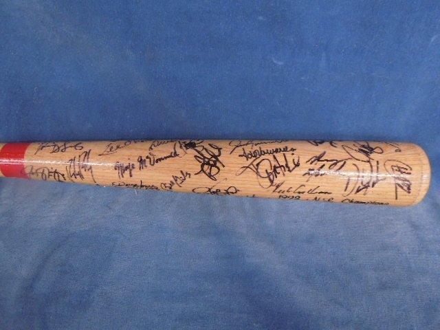Phillies team signed baseball bat