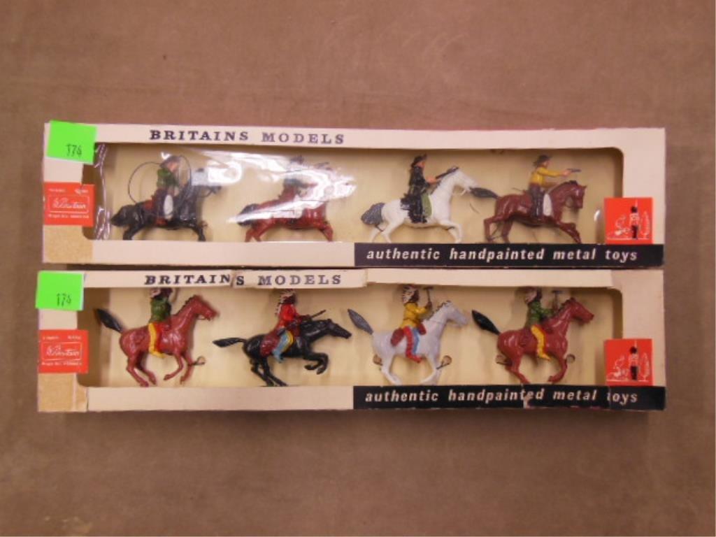 2 sets Britains Cowboy & Indian figures