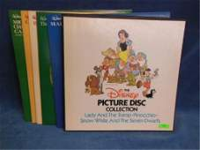 8 Disney Picture Disc records