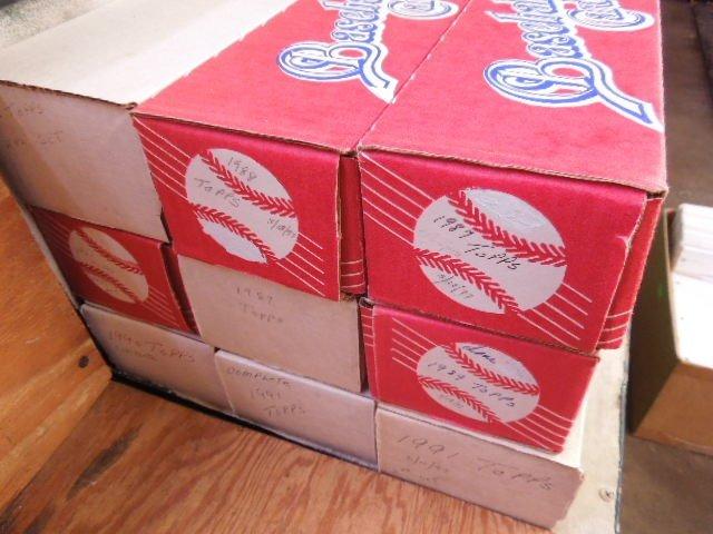 9 Complete Topps Baseball Card sets