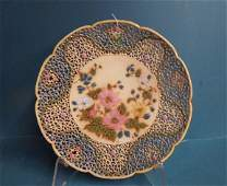 Zsolnay Pottery Reticulated Charger