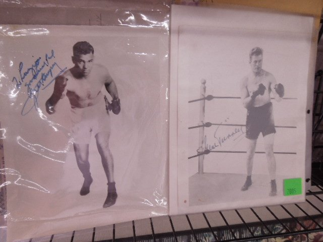 2 Autographed 8 x10 boxer photos