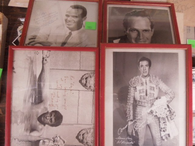 4 Framed Autographed 8 x10 celebrity photos