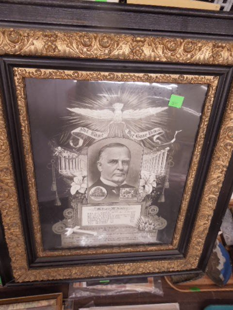 Framed Wm McKinley Memorial poster