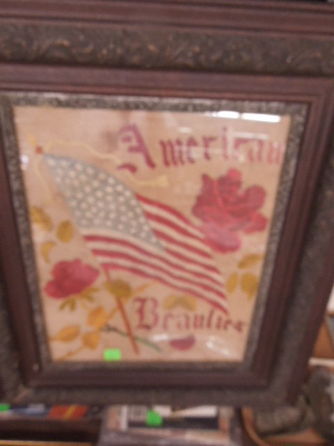 Framed Vintage Flag needlepoint