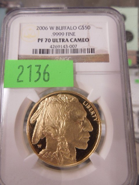 2006 W Buffalo $50 gold coin, .9999 fine