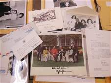 7 signed LBJ & HHH photos letters & cards including; 4