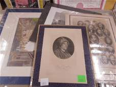 4 19th c. engravings Franklin & others