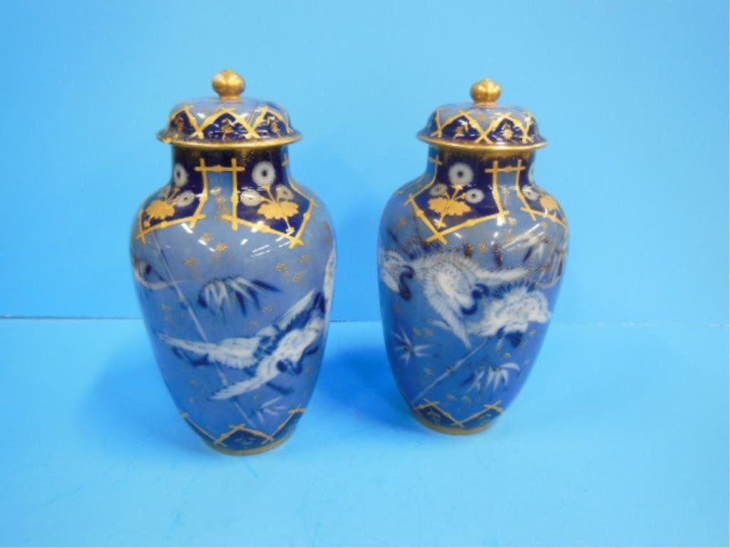 Limoges Porcelain Japonisme Urns