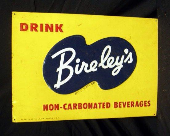 2006: 40's Bire-ley's tin display sign