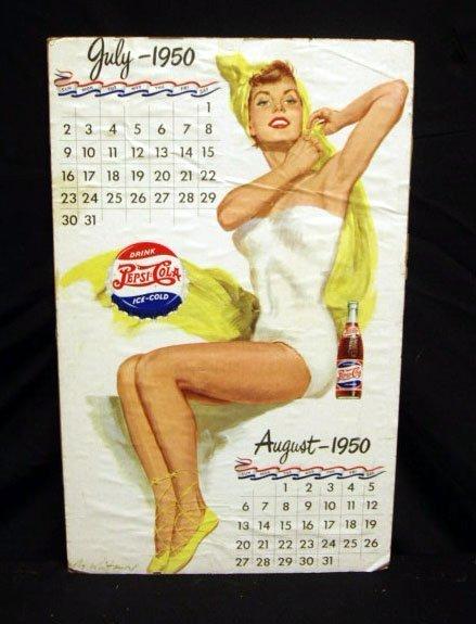 2009: 50's Pepsi pin-up calandar poster