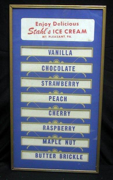 "2011: 50's Stahl's Ice Cream ""flavor"" sign"