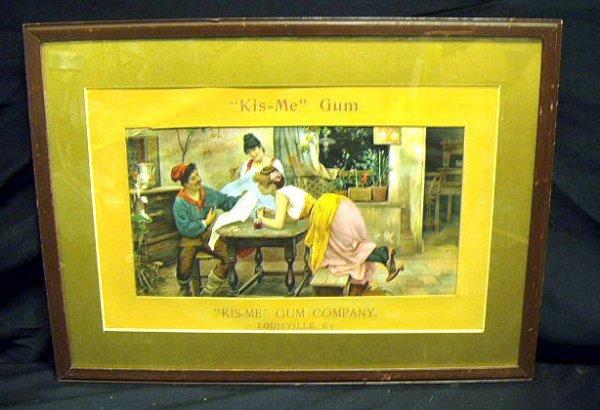 2013: Early 1900's Kis-Me gum advertising display