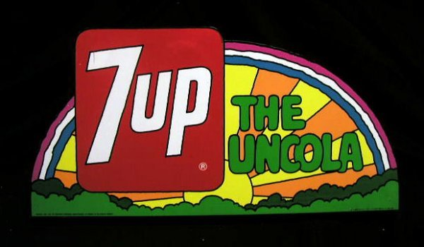 2018: 70's 7up - the Uncola  advertising sign