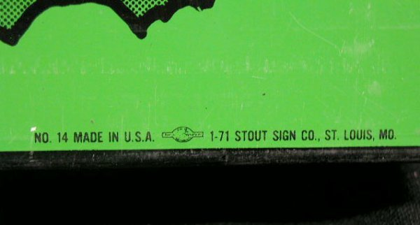 2018: 70's 7up - the Uncola  advertising sign - 2