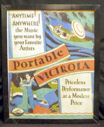 2022: 30's Victor Victrola advertising poster
