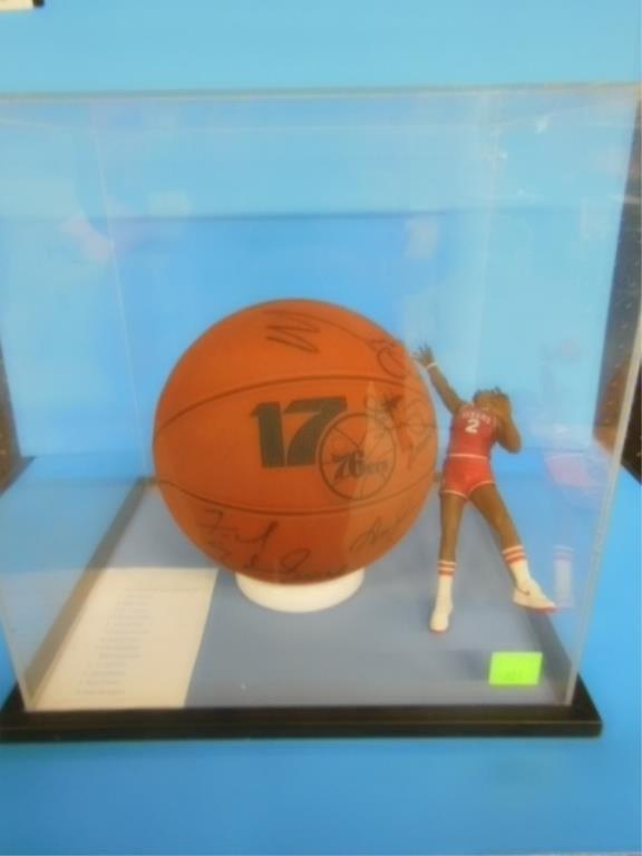 1983 NBA team signed Phila 76ers basketball