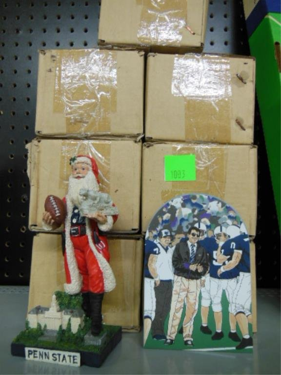 (7) Composition Penn State Santa figures