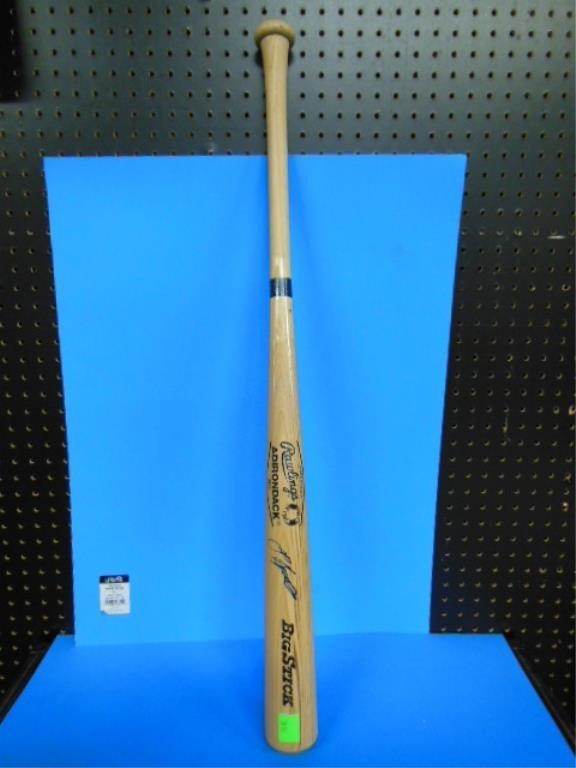 Jeff Bagwell signed baseball bat & baseball