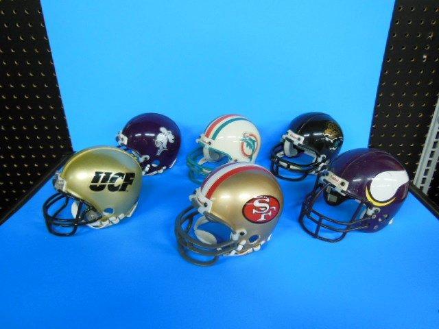 6 Riddell NFL & other mini helmets