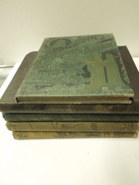 5 19th c. volumes illustrated by Dore'