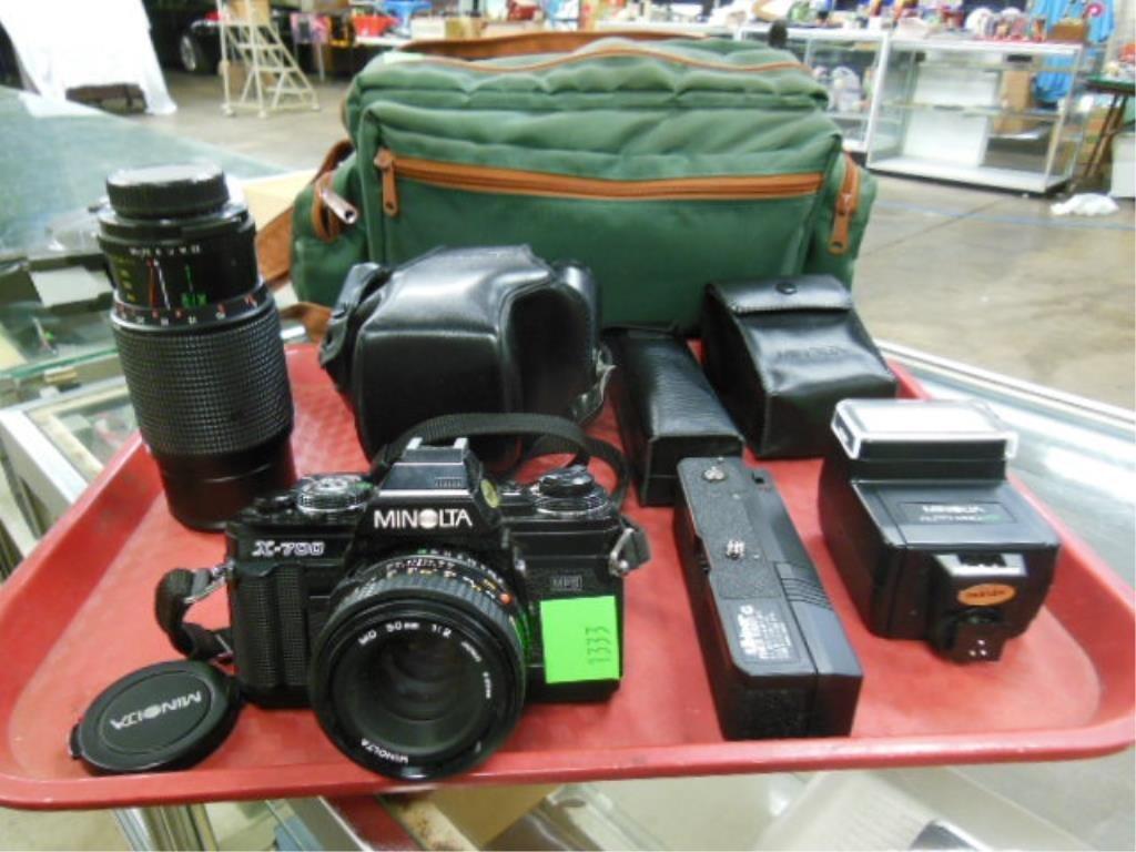 Minolta X-700 Camera w/Accessories