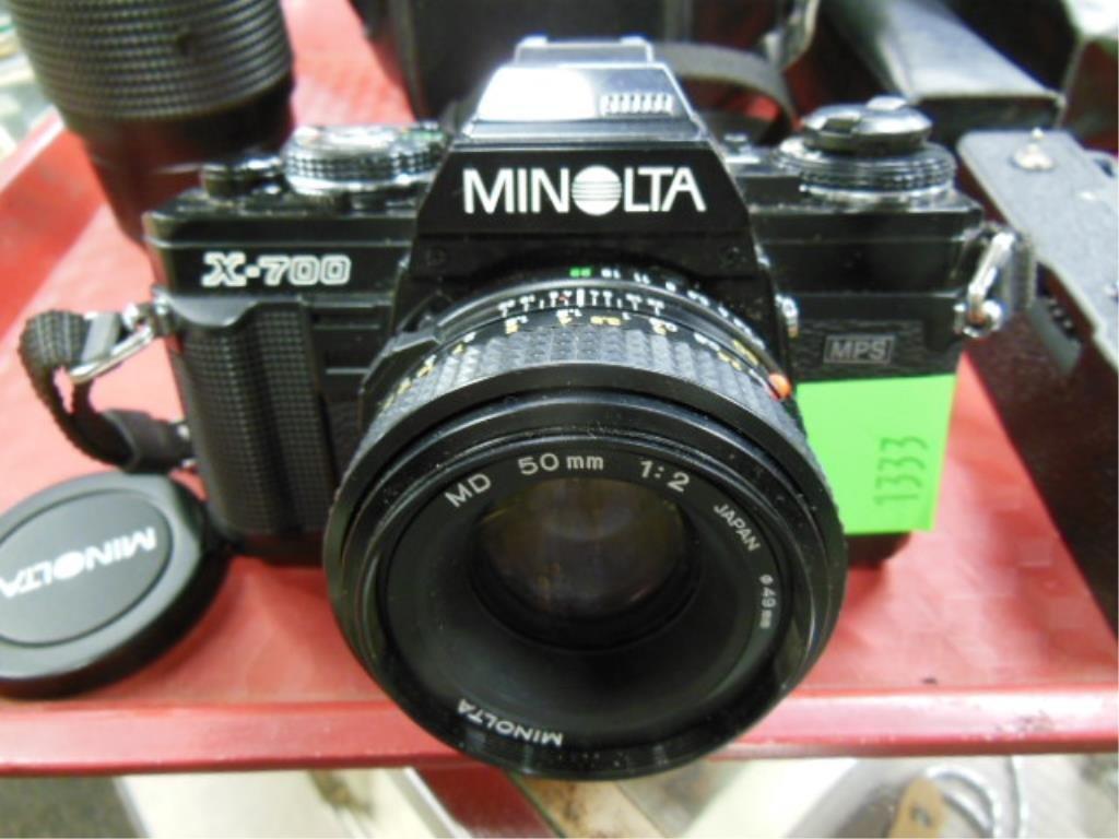 Minolta X-700 Camera w/Accessories - 2