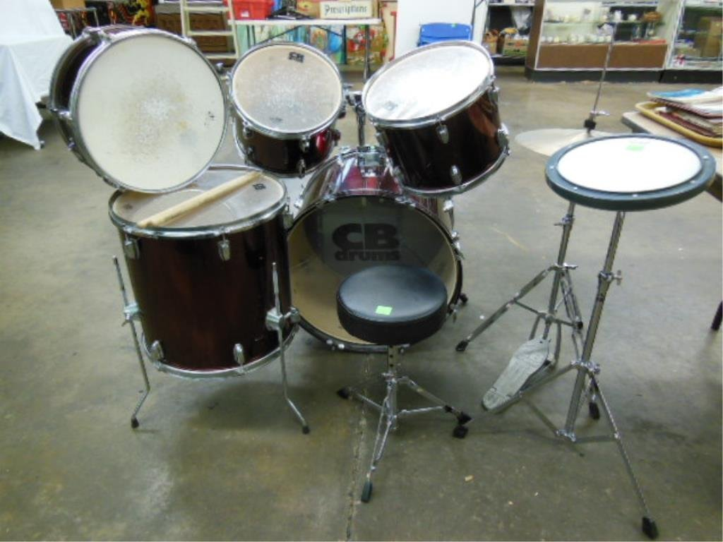 8 Piece Drum Set, CB Drums