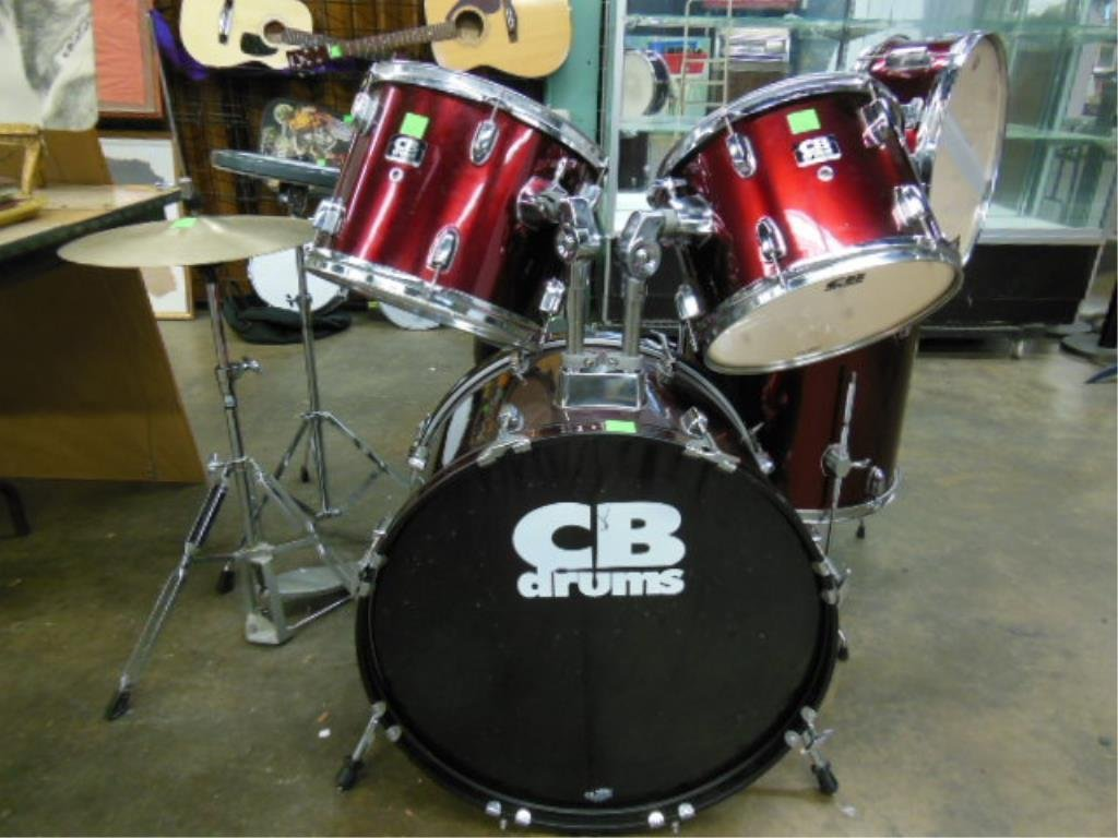 8 Piece Drum Set, CB Drums - 5
