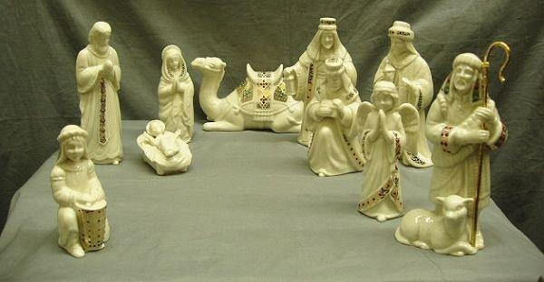 3433: 10 pc. Lenox Nativity Set
