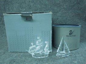 Swarovski Crystal Figurines, Ships