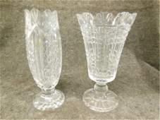 2 large Waterford crystal Vases