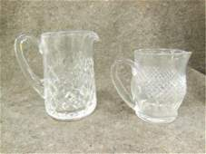 2 Waterford crystal pitchers