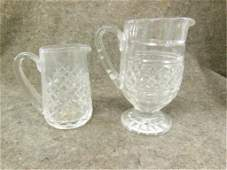 2 Waterford crystal pitchers 1 Colleen pattern