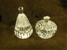 2 Waterford crystal paperweights Fruit