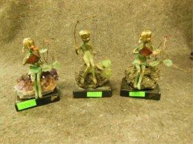 3 Moran Bronze Sculptures