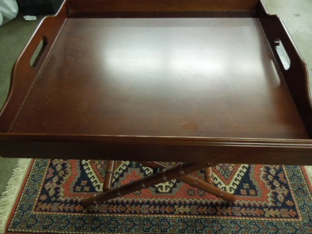 wood tray table The Bombay Co