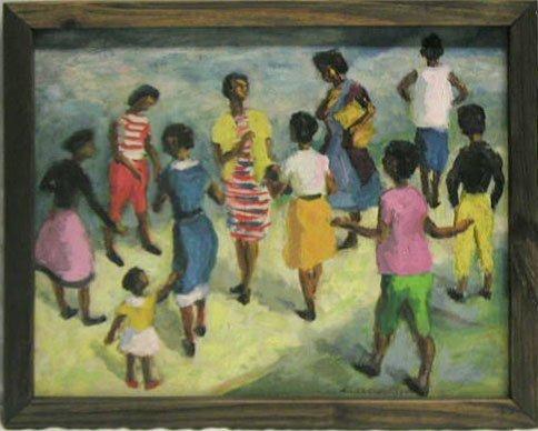 5001: W. Condit oil on board, Afro-Amer. woman