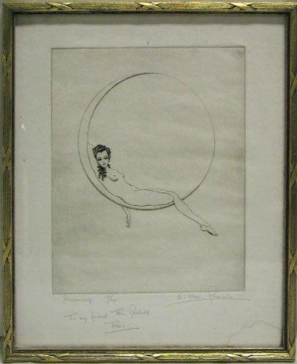 """5005: C.Allen Sherwin etching  """"Dreaming"""""""