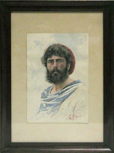 5011: L. Gargiulio watercolor on paper, young man